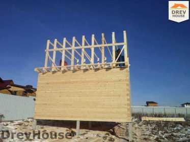 Строительство дома из бруса в деревне Ожерелье   фаза 7