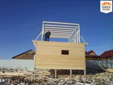 Строительство дома из бруса в деревне Ожерелье   фаза 8