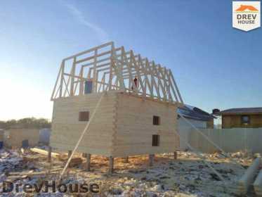 Строительство дома из бруса в деревне Ожерелье   фаза 9