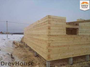 Строительство дома из бруса в деревне Ямуга   фаза 1