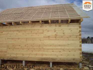 Строительство дома из бруса в деревне Ямуга   фаза 11