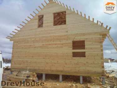 Строительство дома из бруса в деревне Ямуга   фаза 12