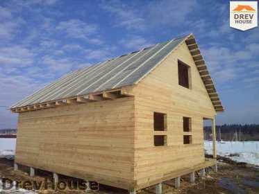 Строительство дома из бруса в деревне Ямуга   фаза 15