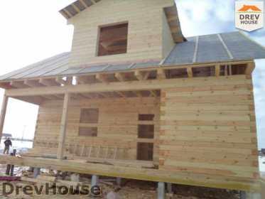Строительство дома из бруса в деревне Ямуга   фаза 17