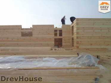 Строительство дома из бруса в деревне Ямуга   фаза 3