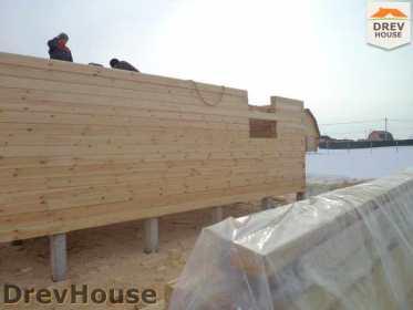 Строительство дома из бруса в деревне Ямуга   фаза 4