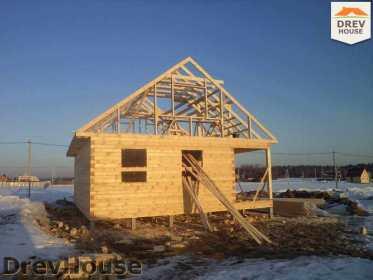 Строительство дома из бруса в деревне Ямуга   фаза 5