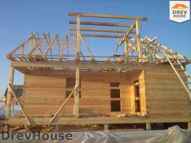 Строительство дома из бруса в деревне Ямуга   фаза 6
