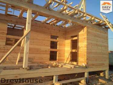 Строительство дома из бруса в деревне Ямуга   фаза 7