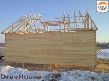 Строительство дома из бруса в деревне Ямуга   фаза 9