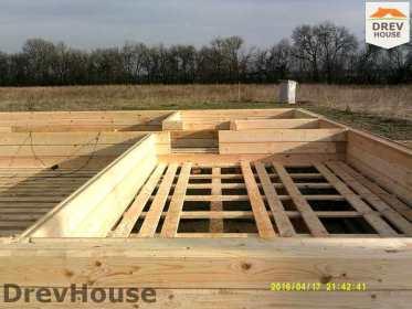 Строительство дома из бруса в деревне Юркино   фаза 1