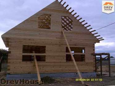 Строительство дома из бруса в деревне Юркино   фаза 10