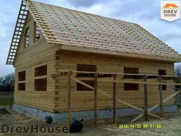 Строительство дома из бруса в деревне Юркино   фаза 11
