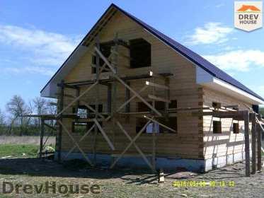 Строительство дома из бруса в деревне Юркино   фаза 12