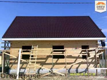 Строительство дома из бруса в деревне Юркино   фаза 13