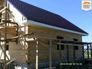 Строительство дома из бруса в деревне Юркино   фаза 14
