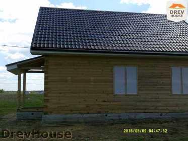 Строительство дома из бруса в деревне Юркино   фаза 15