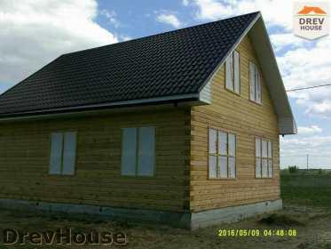 Строительство дома из бруса в деревне Юркино   фаза 16