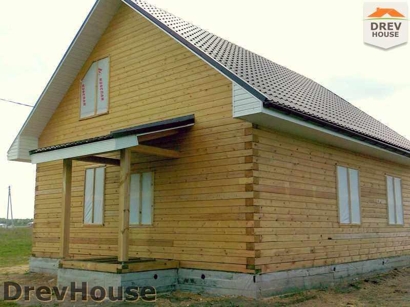 Фоторепортаж строительства дома из бруса в д. Юркино, Орехово-Зуевский р-н, МО