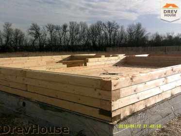 Строительство дома из бруса в деревне Юркино   фаза 2