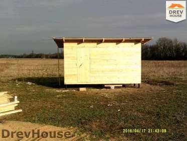 Строительство дома из бруса в деревне Юркино   фаза 3