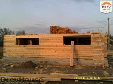 Строительство дома из бруса в деревне Юркино   фаза 4