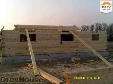 Строительство дома из бруса в деревне Юркино   фаза 5