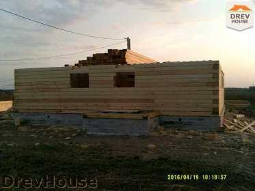 Строительство дома из бруса в деревне Юркино   фаза 6