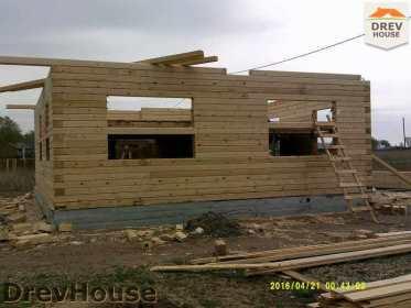 Строительство дома из бруса в деревне Юркино   фаза 7