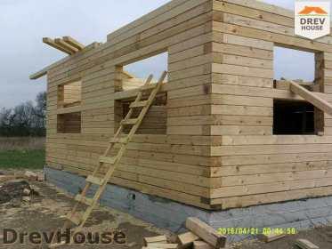 Строительство дома из бруса в деревне Юркино   фаза 8