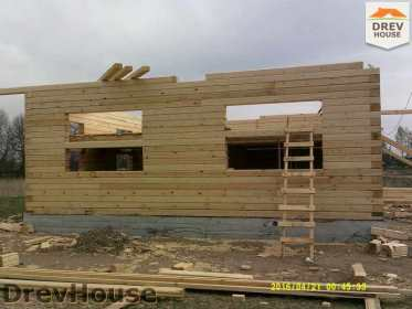 Строительство дома из бруса в деревне Юркино   фаза 9