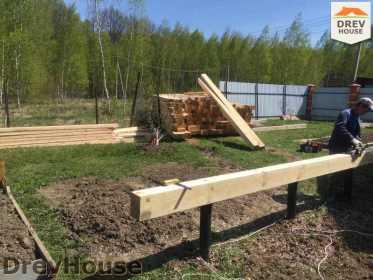 Строительство дома из бруса в городе Ивантеевка   фаза 1