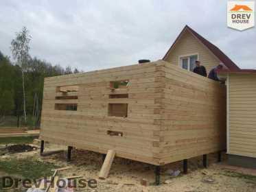 Строительство дома из бруса в городе Ивантеевка   фаза 10