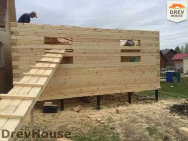 Строительство дома из бруса в городе Ивантеевка   фаза 12