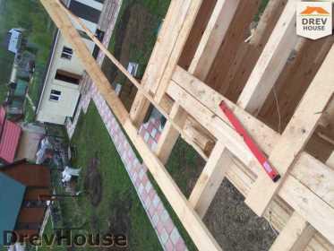 Строительство дома из бруса в городе Ивантеевка   фаза 13