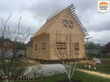 Строительство дома из бруса в городе Ивантеевка   фаза 14