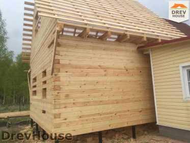Строительство дома из бруса в городе Ивантеевка   фаза 16