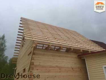 Строительство дома из бруса в городе Ивантеевка   фаза 17