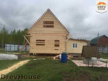 Строительство дома из бруса в городе Ивантеевка   фаза 18