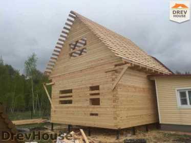Строительство дома из бруса в городе Ивантеевка   фаза 19