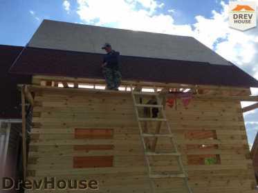 Строительство дома из бруса в городе Ивантеевка   фаза 20