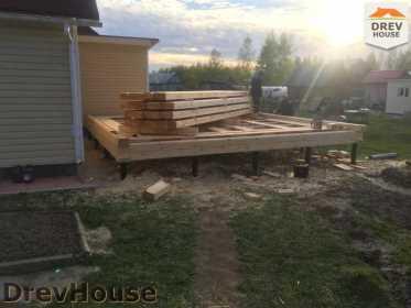 Строительство дома из бруса в городе Ивантеевка   фаза 3