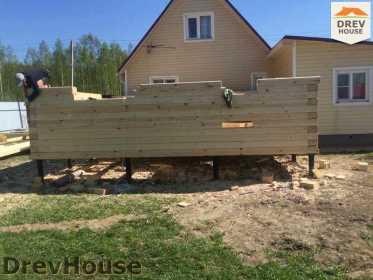 Строительство дома из бруса в городе Ивантеевка   фаза 7