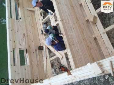 Строительство дома из бруса в городе Ивантеевка   фаза 9