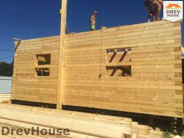 Строительство дома из бруса в коттеджном поселке Панорамы   фаза 12