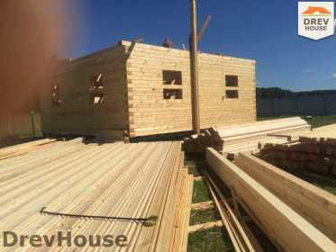 Строительство дома из бруса в коттеджном поселке Панорамы   фаза 13