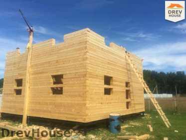 Строительство дома из бруса в коттеджном поселке Панорамы   фаза 14
