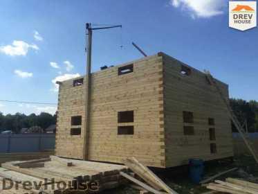 Строительство дома из бруса в коттеджном поселке Панорамы   фаза 16