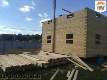 Строительство дома из бруса в коттеджном поселке Панорамы   фаза 17