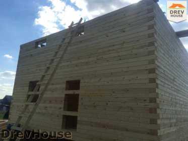 Строительство дома из бруса в коттеджном поселке Панорамы   фаза 18